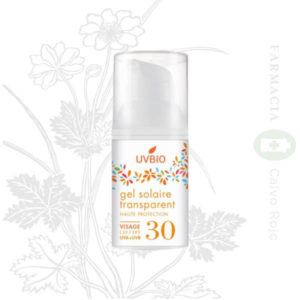 UVBIO GEL SOLAR FACIAL TRANSPARENTE SPF 30 30 ML