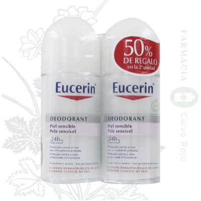 Duplo desodorante roll-on Eucerin piel sensible 50 ml